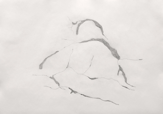 09-Sketch for the study of craks on the wall