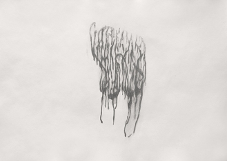 19-Sketch for the study of a leak on the wall:2